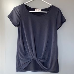Grey knotted tee. Size small, worn twice, like new